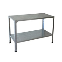 Greenhouse Work Bench Steel Twin Level 80cm x 114cm