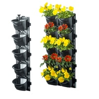 Vertical Garden Kit with 10 Pots and Weed Mats