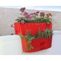 UV Protected Kamelia Red Saddle Planter 3-in-1