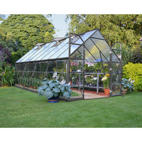 Maze Outdoor Walk In Polycarbonate Greenhouse 8x16'