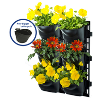 Maze Vertical Garden Kit Wall Planter with 6 Pots
