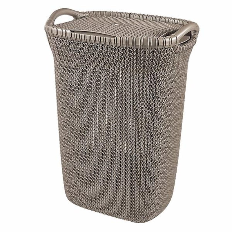 Curver Sand Knit Storage Baskets: Curver Knit Laundry Hamper In Brown 57L