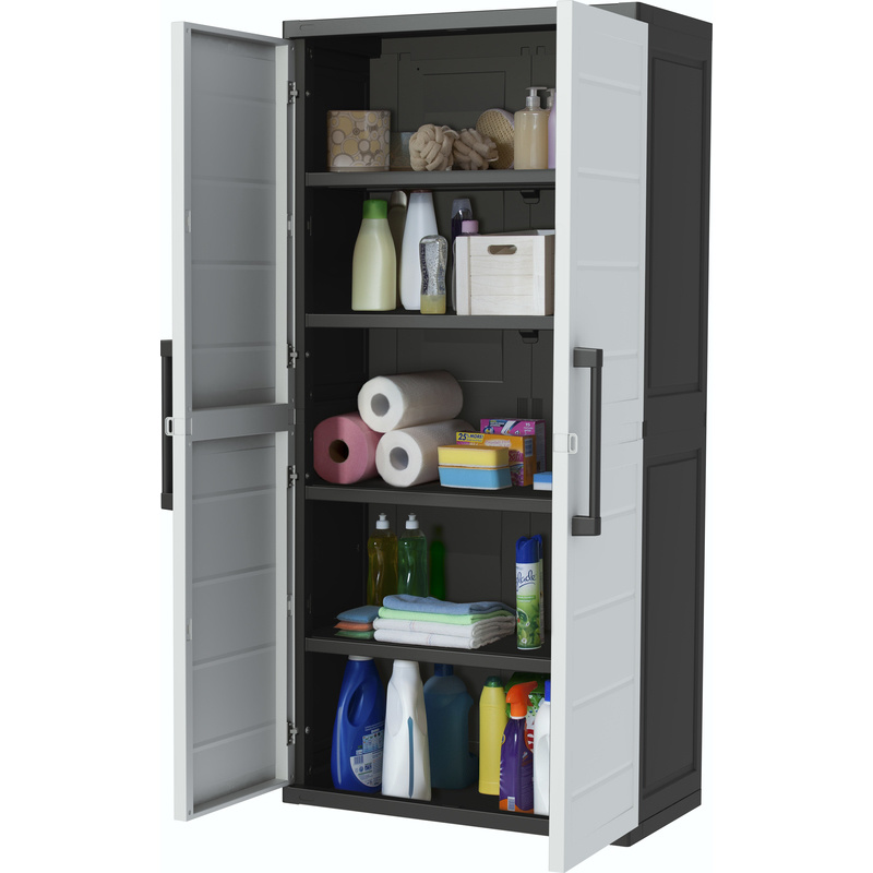 keter xl plus heavy duty plastic storage cabinet buy garage cabinets. Black Bedroom Furniture Sets. Home Design Ideas