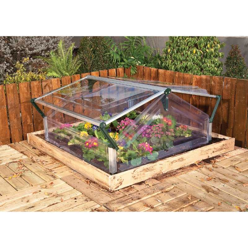 Double Cold Frame Greenhouse with Crystal Clear Lid   Buy Mini ...