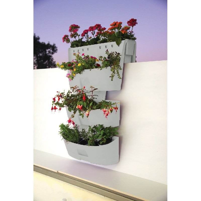Plastic Saddle Planter And 2 Hanging Wall Planters Buy