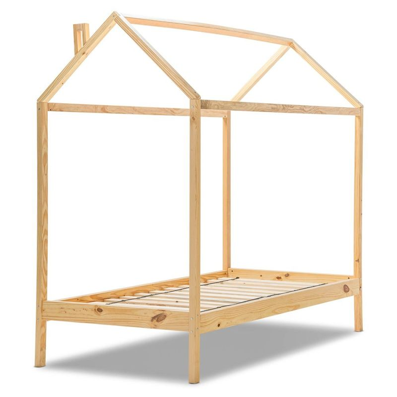 Kid S Natural Pine Single 4 Post House Bed Frame Buy