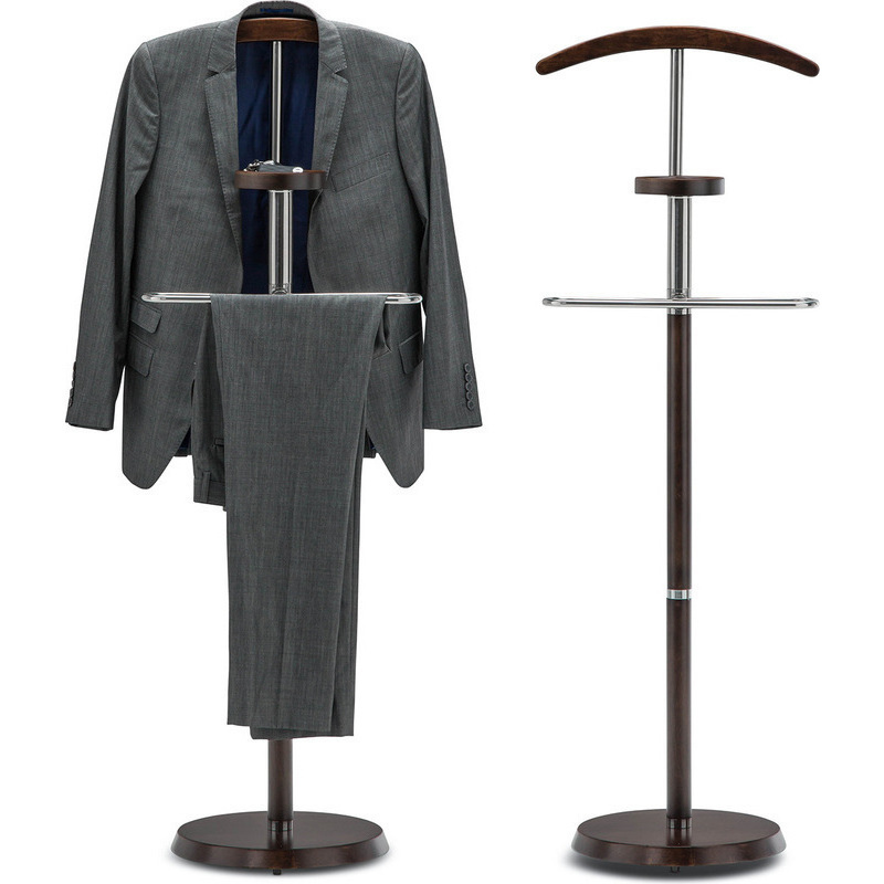 Timber Men S Clothing Valet Stand In Espresso 138cm Buy