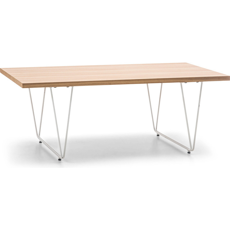 Imola Wooden amp Steel Coffee Table In Ash White Buy Tables