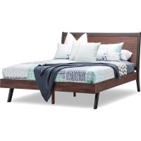 Selena Queen Bed Frame in Caramel & Dark Chocolate