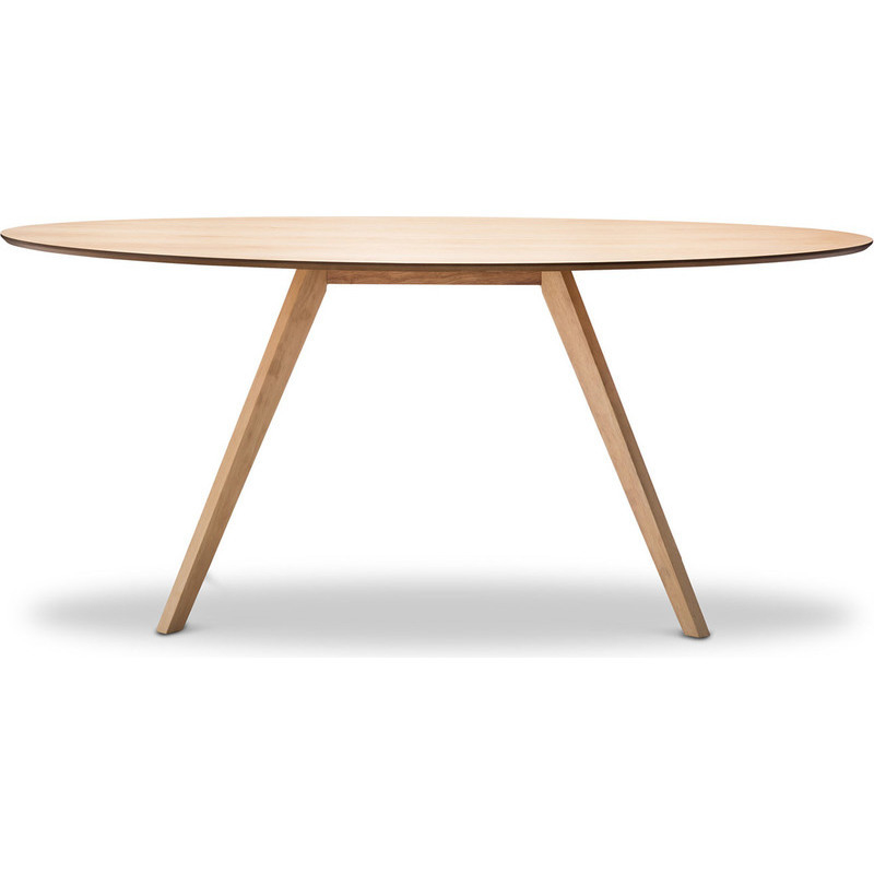 Scandinavian oval wooden dining table in oak 1800mm buy for Buy dining table