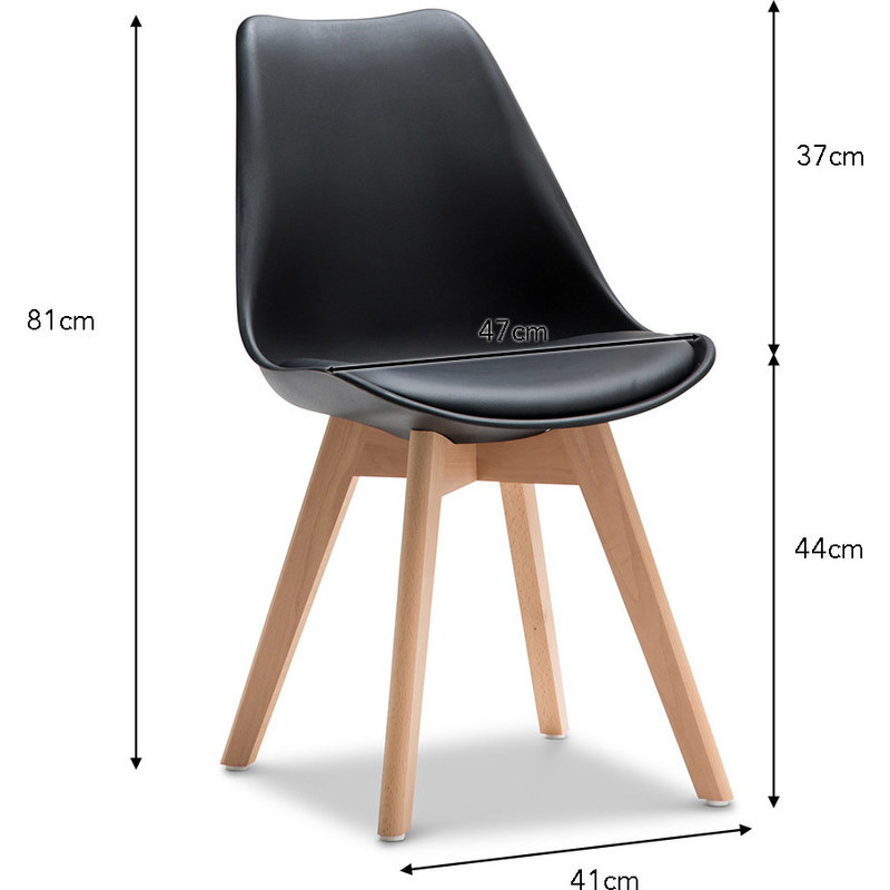 2x eames inspired padded plastic dining chair black buy sets