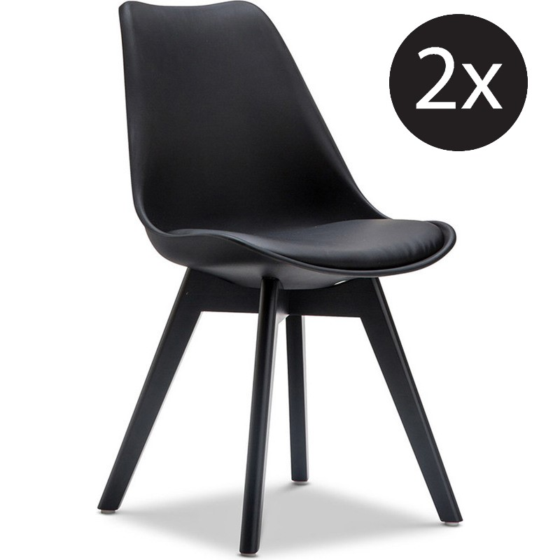 2x Eames DSW Inspired PU Leather Chair Solid Black Buy SALE : 701 007501 from www.mydeal.com.au size 800 x 800 jpeg 54kB