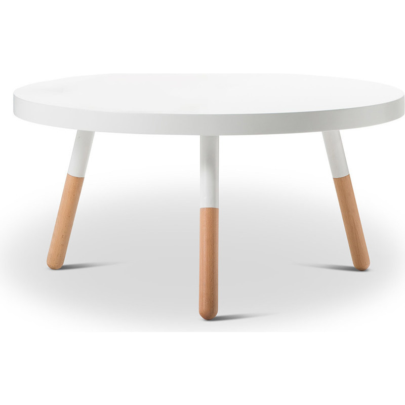Scandinavian Round Coffee Table W Beech Legs White Buy Coffee Tables