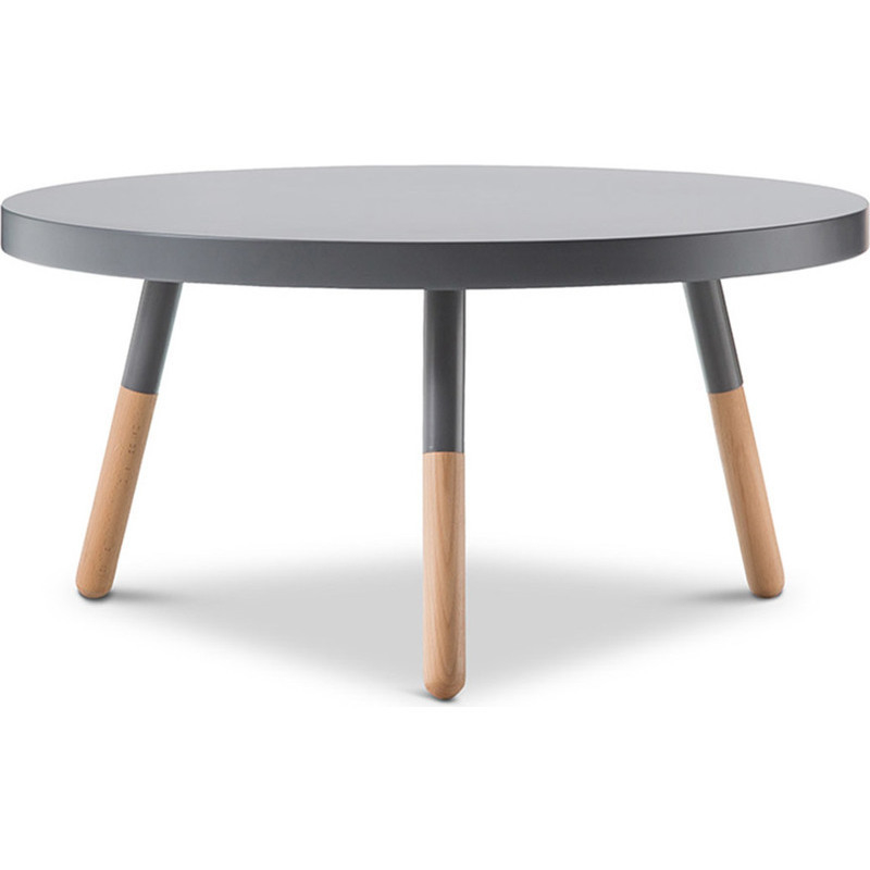 Scandinavian Round Coffee Table W Beech Legs Grey Buy Coffee Tables