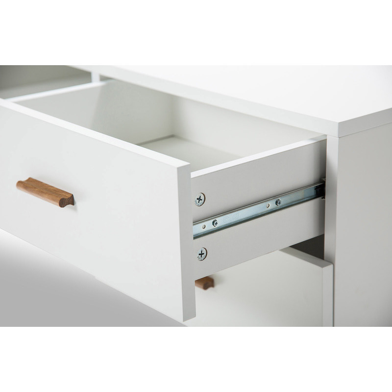 Scandinavian TV Stand Entertainment Unit In White Buy