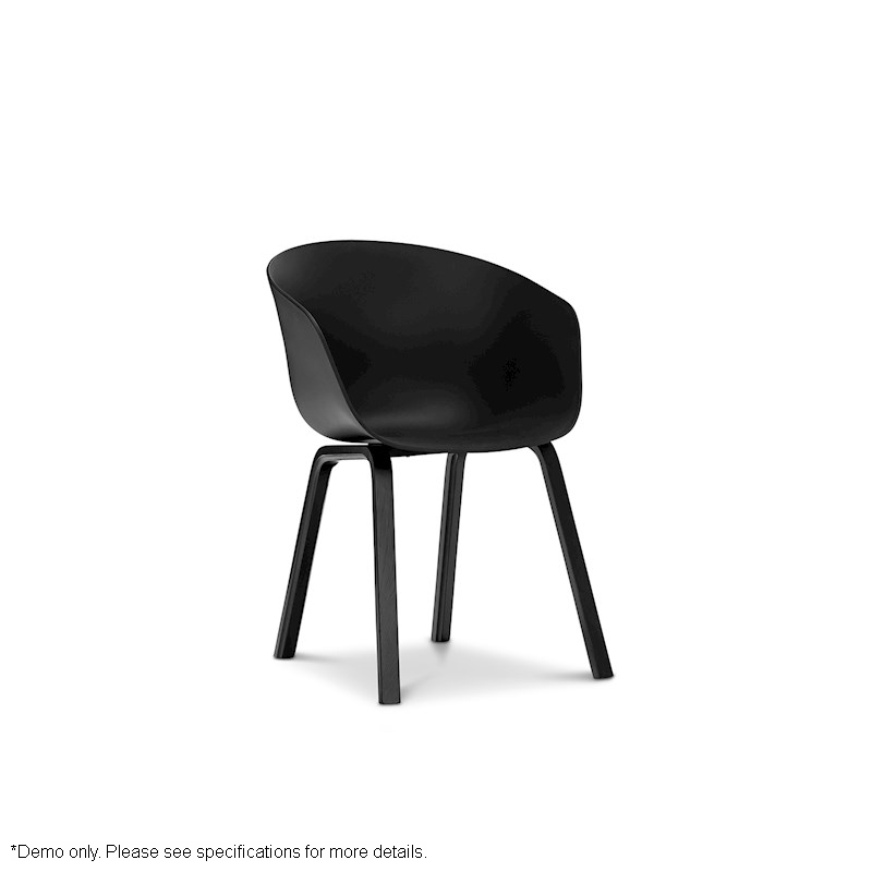 Replica black hay scoop dining chair with black bentwood for Hay about a stool replica