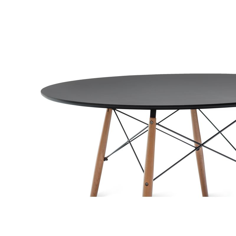 Where To Buy Dining Tables: Eames DSW Large Round Dining Table Replica In Black