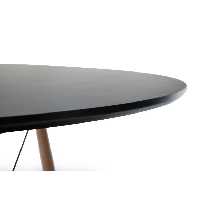 Eames Dsw Large Round Dining Table Replica In Black Buy