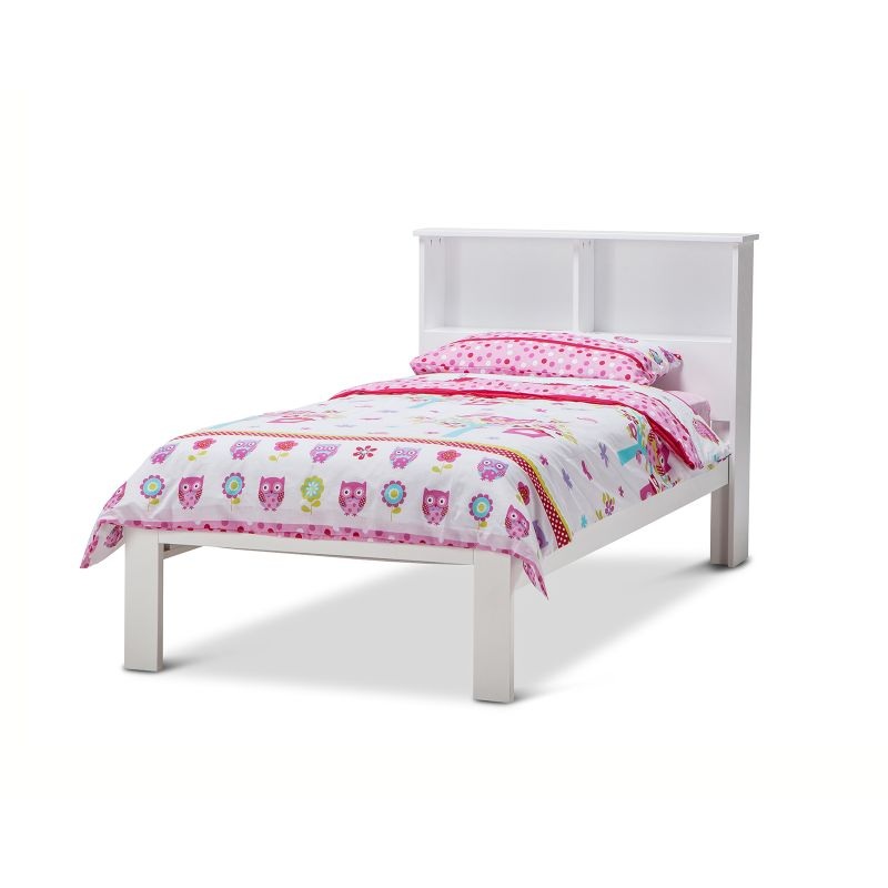Herry Single Bed Frame w/ Storage Headboard White | Buy Single Bed ...