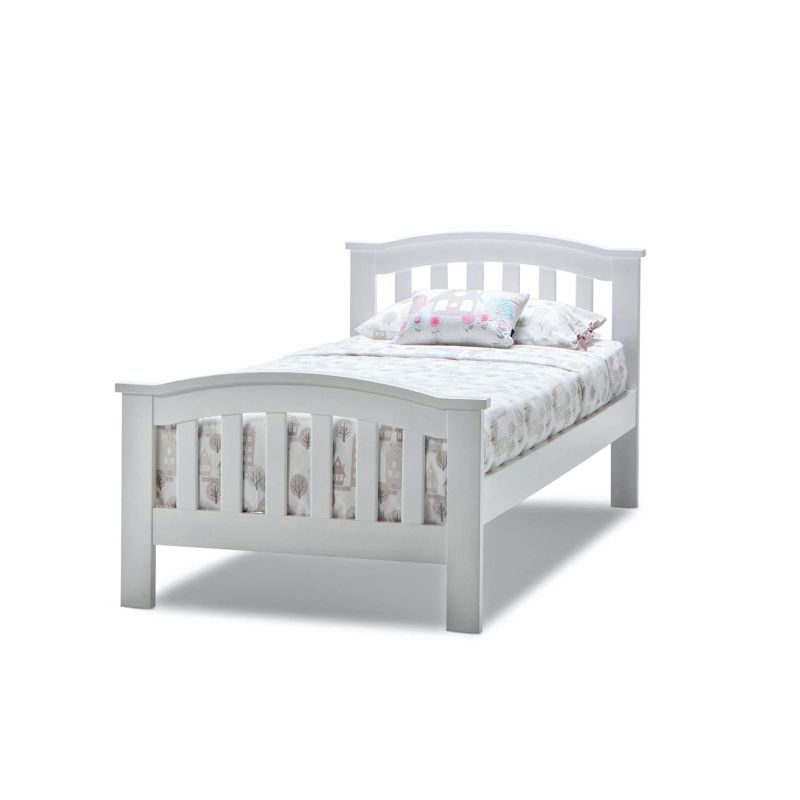 Leah Single Size Solid Timber Bed Frame In White