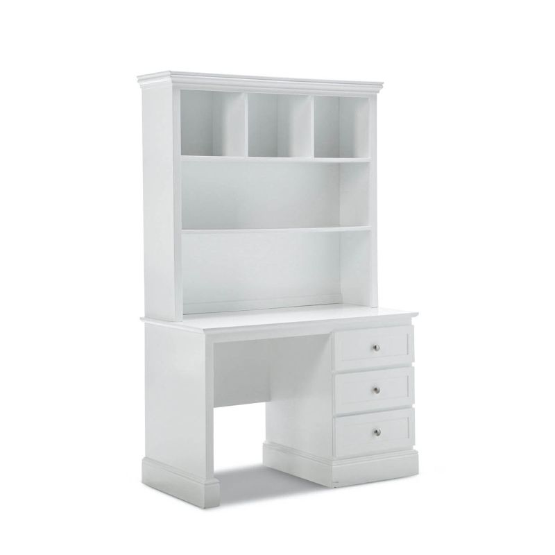 Mia 3 Drawer Kids Desk Amp Hutch White Smooth Finish Buy