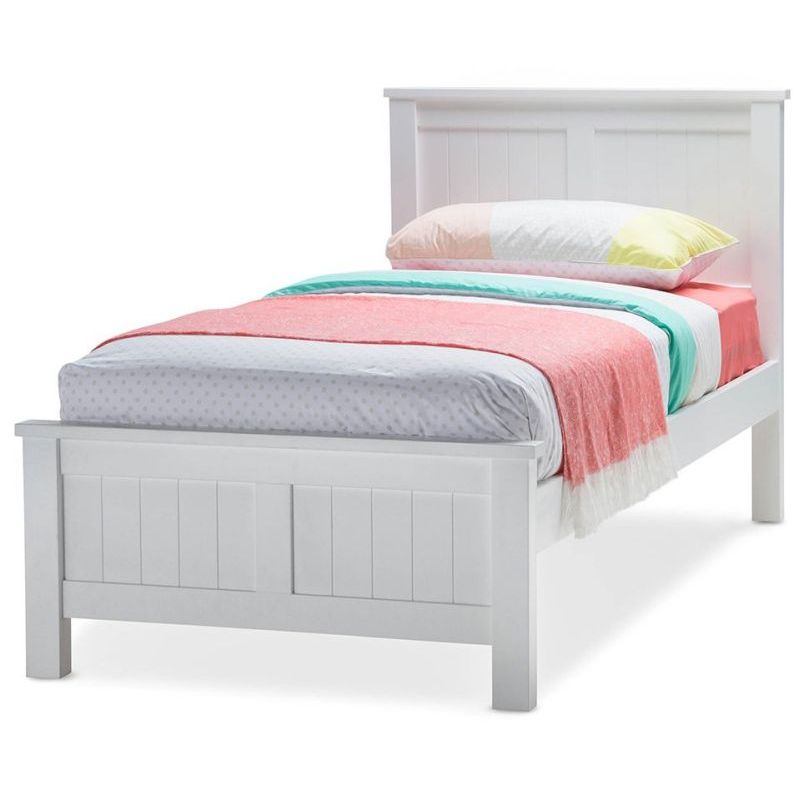 Snow King Single Size Wooden Bed Frame In White Buy