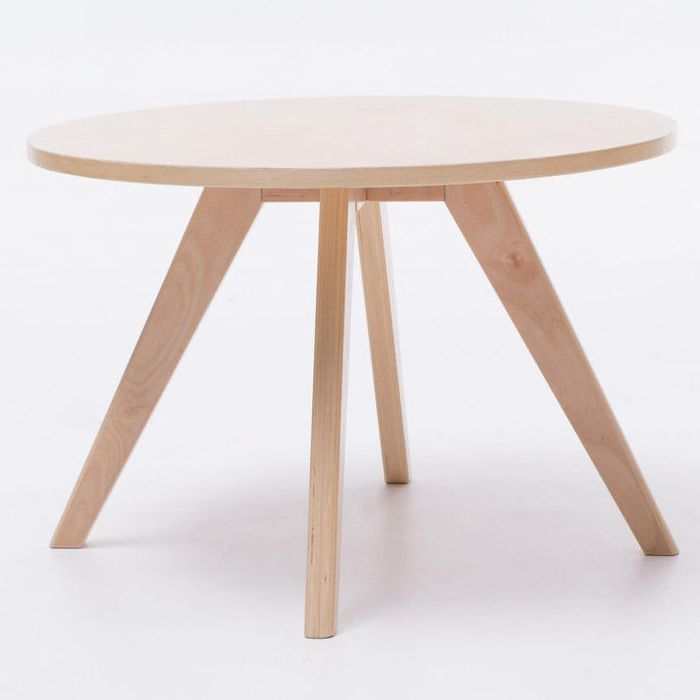 Modern wooden round coffee table in natural 60cm buy for Coffee table 60cm