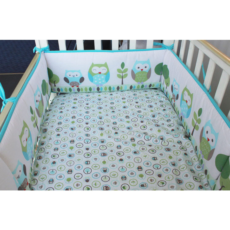 Baby Crib Cotton Fitted Cot Sheet In Owl Buy Cot Sheets