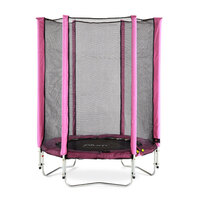 Plum 4.5ft Kids Trampoline with Enclosure in Pink
