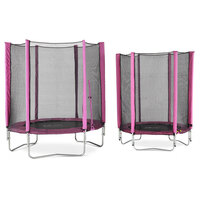 Plum 6ft Kids Trampoline with Net Enclosure in Pink