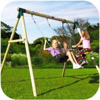 Plum Kids Single Swing Set with 2 Seat Glider