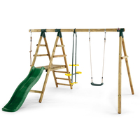 Kids Playground with Swings  Glider  Rope & Slide