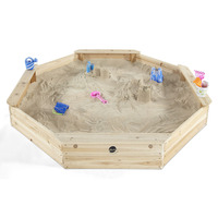 Plum Kids Large Octagonal Sandpit w/ Seats & Cover