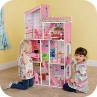 Kids Modern 3 Story Townhouse Dollhouse w Furniture