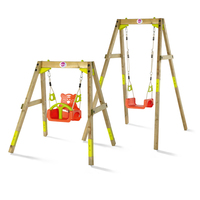 Plum Outdoor Toddler Kids Wooden Growing Swing Set