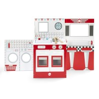 Plum Kids Kitchen, Diner & Theatre Set in Red White
