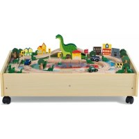 Plum Kids Roar-A-Saur Dinosaur & Car Activity Table