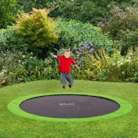 Plum Kids 10ft Spring In-Ground Trampoline in Green