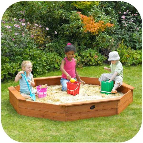 Plum kids large octagonal sandpit w seats cover buy for 10 in 1 games table australia