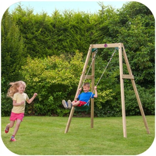 Plum kids backyard outdoor wooden swing set buy swings for Swing set frame only
