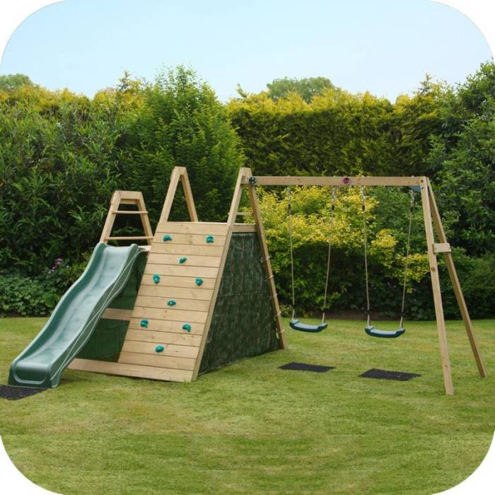 Plum Kids Swing Slide & Climb Wooden Playground | Buy Outdoor Playsets