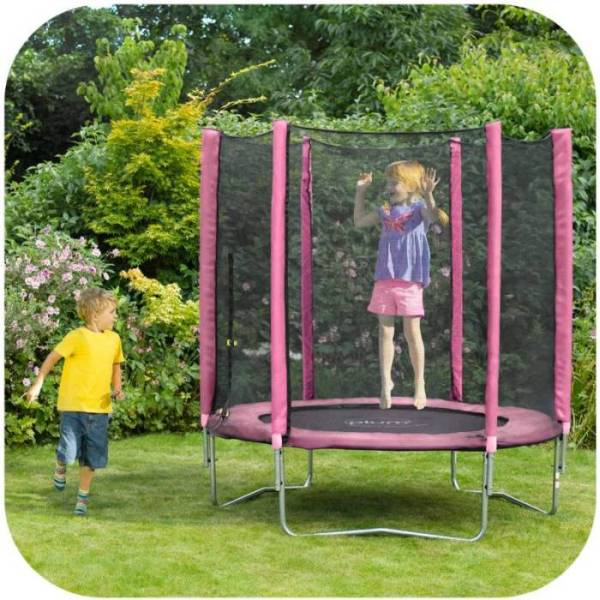 Trampoline Parts Plum: Plum 6ft Kids Trampoline With Net Enclosure In Pink