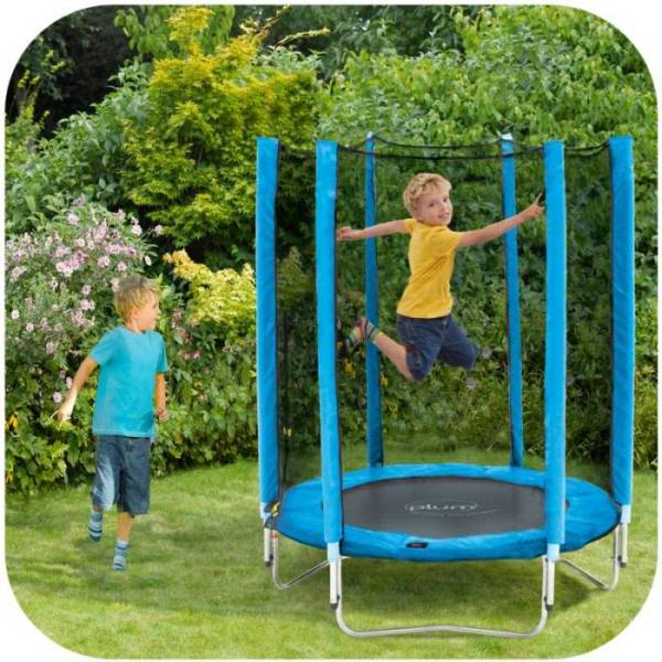 Trampoline Parts Plum: Plum 4.5ft Kids Trampoline With Enclosure In Blue