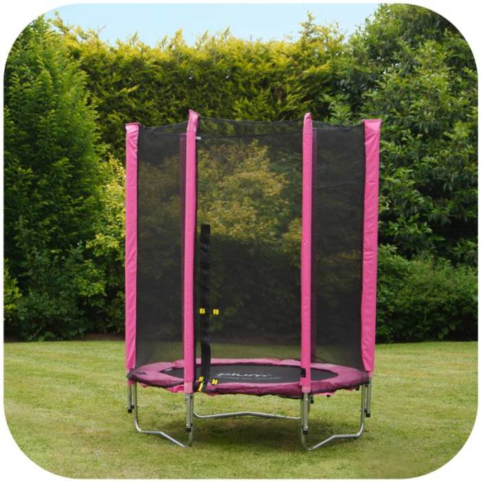 Trampoline Parts Plum: Plum 4.5ft Kids Trampoline With Enclosure In Pink