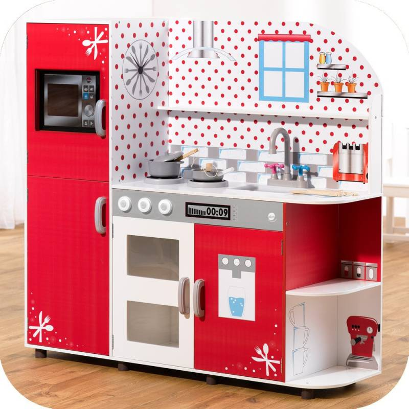 Plum Kids Wooden Red Play Kitchen & Accessories