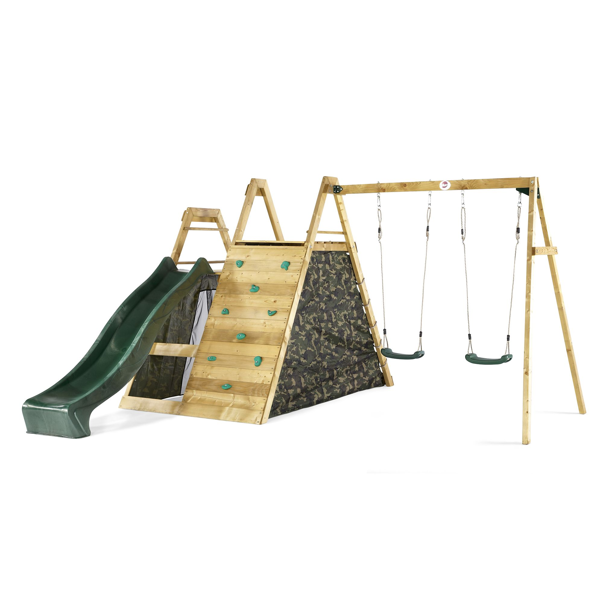 Plum Kids Swing Slide Climb Wooden Playground