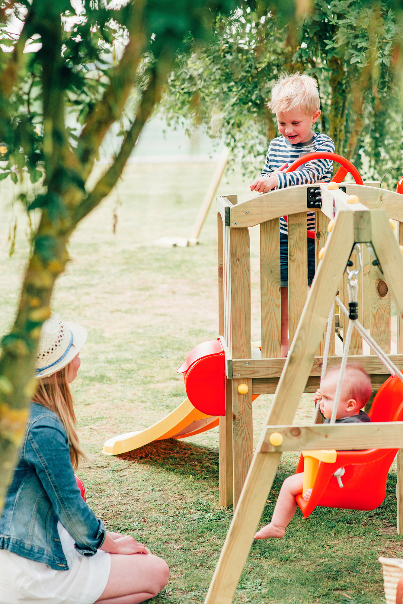 Plum Toddlers Swing Slide Cubby House Playground