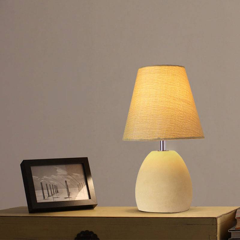 Do Salt Lamps Run Out : Elegant Concrete Table Lamp in Red Yellow or Grey Buy SALE