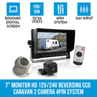 7in HD Monitor with 2 Reversing Cameras & Remote