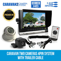 7in Monitor, 2 Reversing Cameras & Trailer Cable